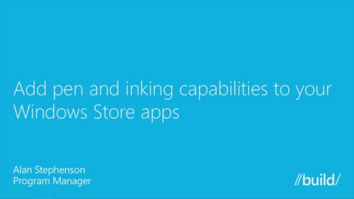 Add Pen & Inking Capabilities to Your Windows Store Apps