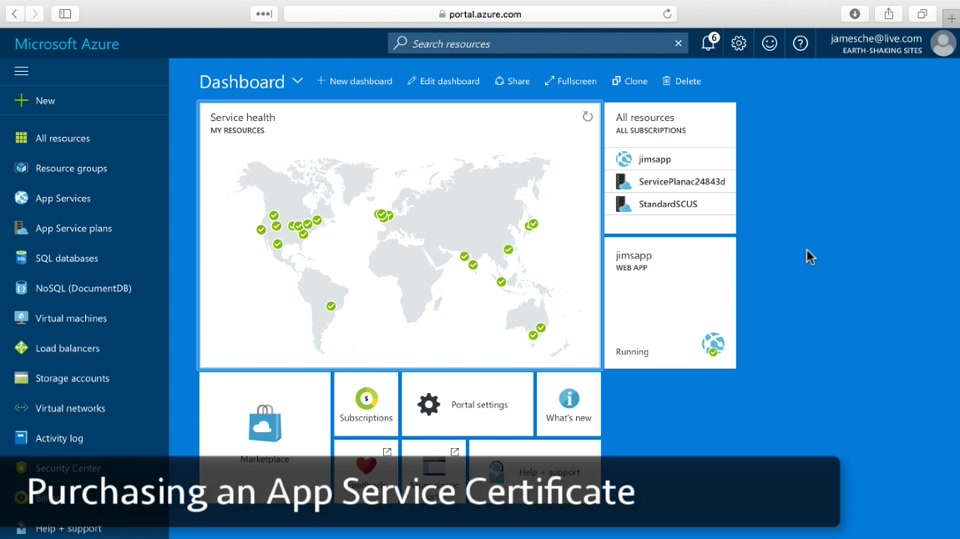 Purchase an App Service Certificate