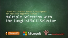 Part 31: Multiple Selection with the LongListMultiSelector