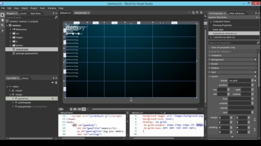 How Do I: (Part 2) Using Blend to Design HTML5 Windows 8 Apps: Creating a Grid Layout