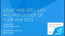Azure Web Sites: easy and fast deploy of your web sites