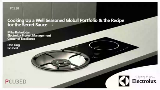 Electrolux - cooking up a well seasoned global portfolio and the recipe for the secret sauce