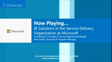BI Solutions in the Service Delivery Organization at Microsoft