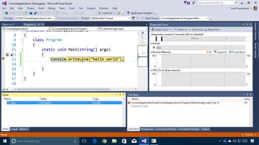Getting Started with Visual Studio – Building blocks of the IDE