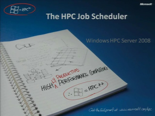 New Job Scheduler Features with Windows HPC Server 2008