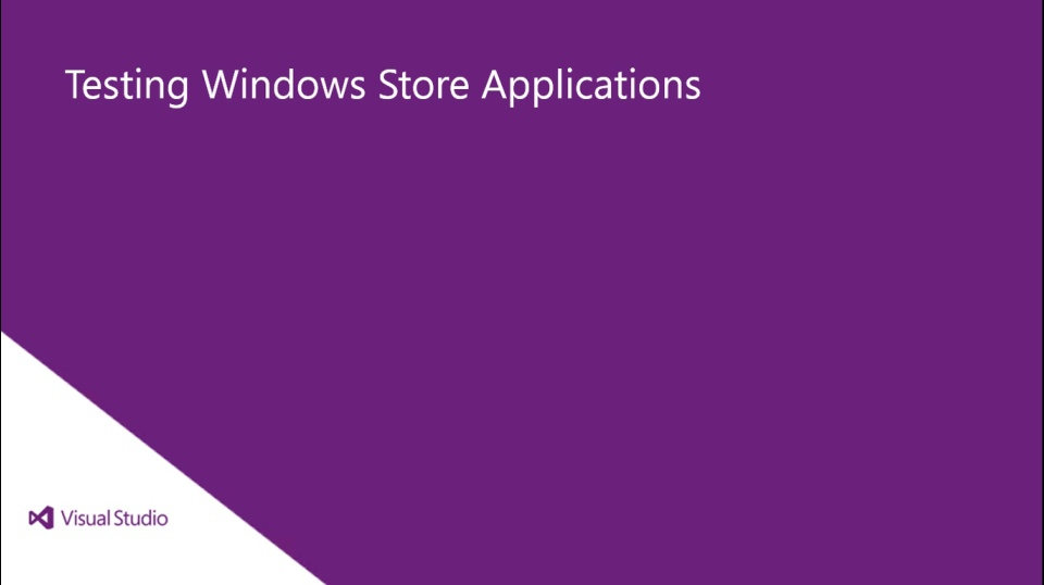 Testing Windows Store Applications