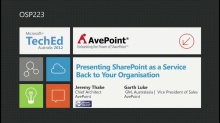 Presenting SharePoint as a Service to your Organisation