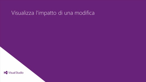 Visual Studio Ultimate 2012: Visualizza l'impatto di una modifica