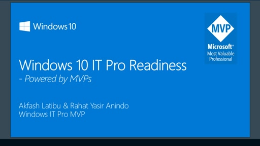 Windows 10 IT Pro Readiness [Southeast Asia]
