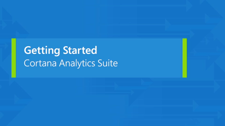 Introducing the Cortana Analytics Suite