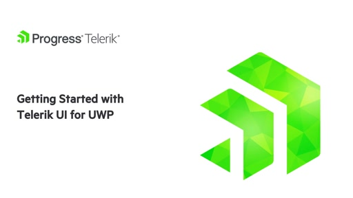 Getting Started with Telerik UI for UWP