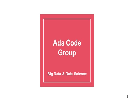 Ada Code Group: Big Data and Data Science