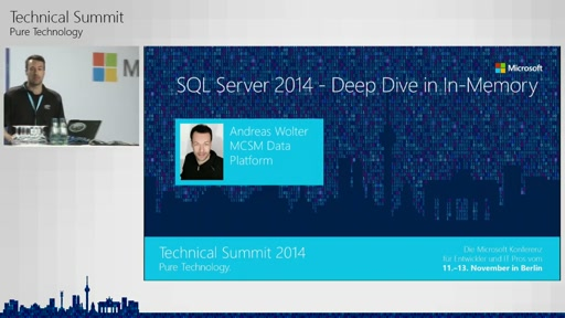 SQL Server 14 - Deep Dive in InMemory