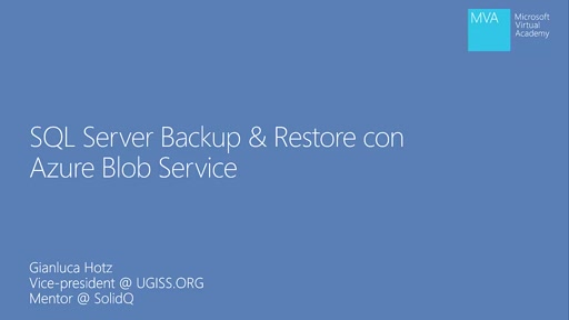 SQL Server Backup & Restore con Azure Blob Services