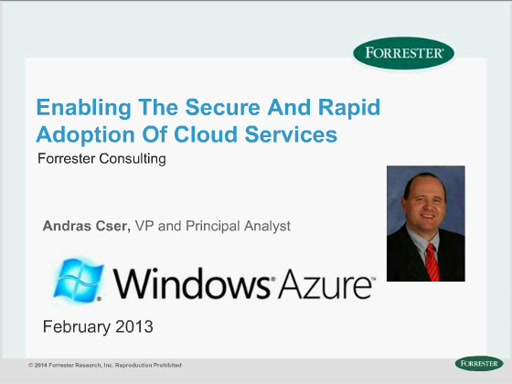 Enabling the Secure and Rapid Adoption of Cloud Services