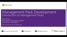 (Module 1) Introduction to Management Packs
