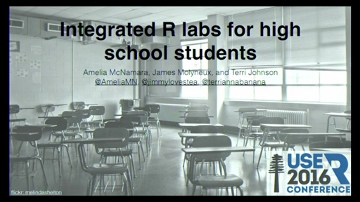 Integrated R labs for high school students