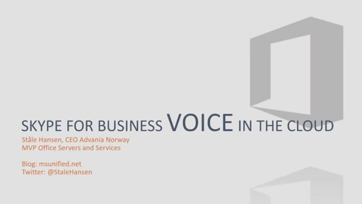 Be-Com E-Communications Event - Voice In the Cloud and how to succeed with it (By Stale Hansen)