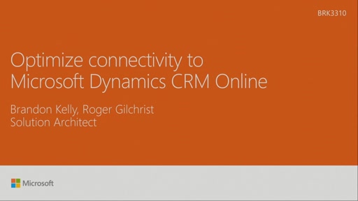 Optimize connectivity to Microsoft Dynamics CRM Online