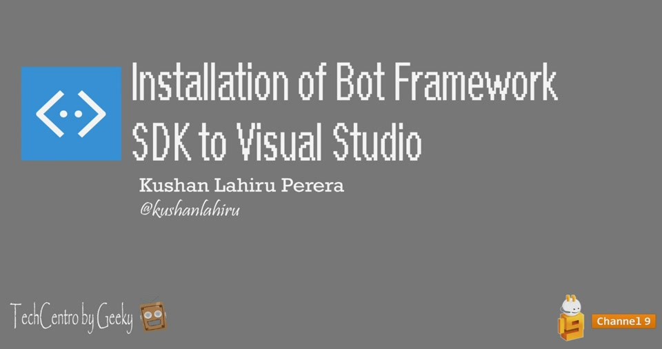 Installation of Bot Framework (Preview) SDK to Visual Studio as a Template