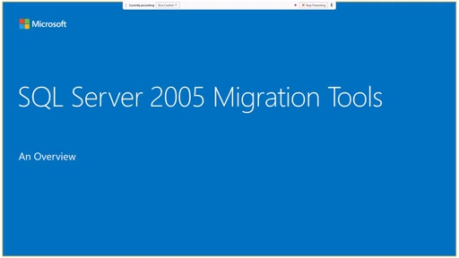SQL Server 2005 End of Life Migration Tools