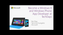 Become a Windows 8 and Windows Phone App Developer at TechDays