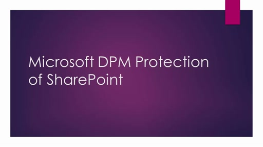 Microsoft SCDPM Protection of SharePoint - 2 of 2 - How to restore a SharePoint item from disk