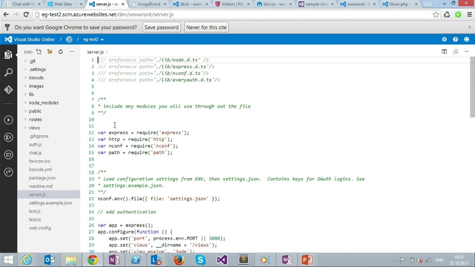Erich Gamma introduces us to Visual Studio Online integrated with the Windows Azure Portal - Part 1