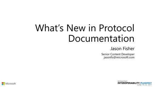 What's New in Protocol Documentation
