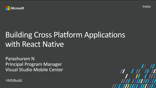 Building cross platform applications with ReactNative