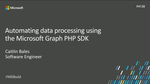 Automating data processing using the Microsoft Graph PHP SDK