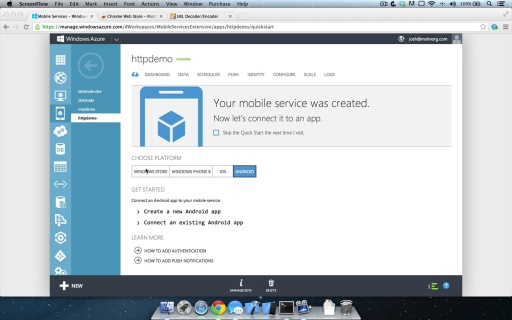 Overview of the Mobile Services HTTP API