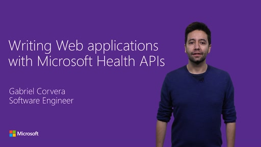 Writing web applications with Microsoft Health APIs