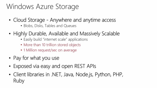 Get Started with Windows Azure Today: (02) Windows Azure Storage and Best Practices Part 1