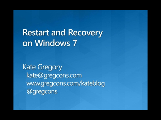 Application Restart and Recovery on Windows 7 in Managed Code