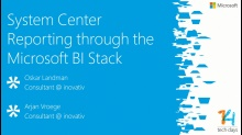 System Center Reporting through the Microsoft BI Stack