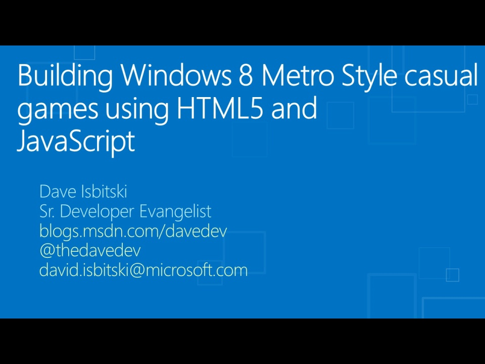 Building Windows 8 Metro style casual games using HTML 5