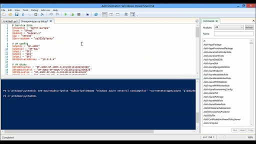 Automating the pop-up and pop-down process of a Windows Azure SharePoint Pop-up Lab with Powershell