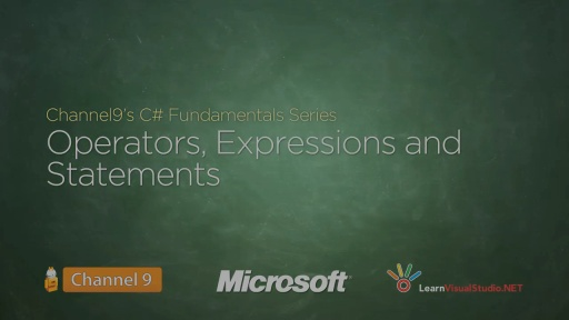 Operators, Expressions and Statements Duration - 07