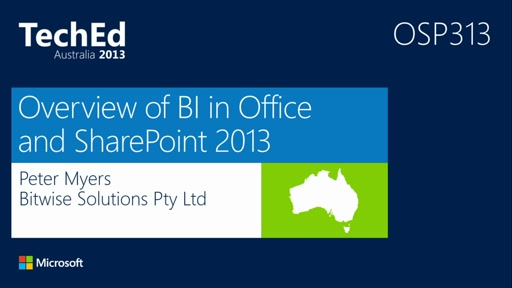 Overview of BI in Office and SharePoint 2013