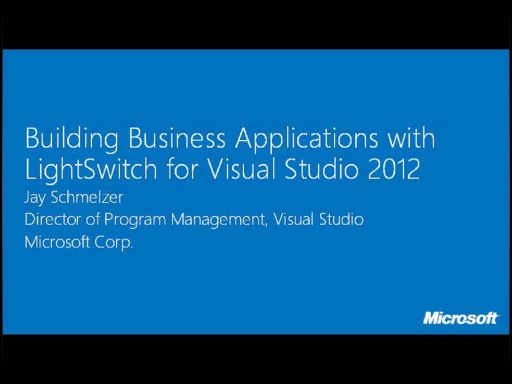 Building Business Applications with LightSwitch for Visual Studio 2012