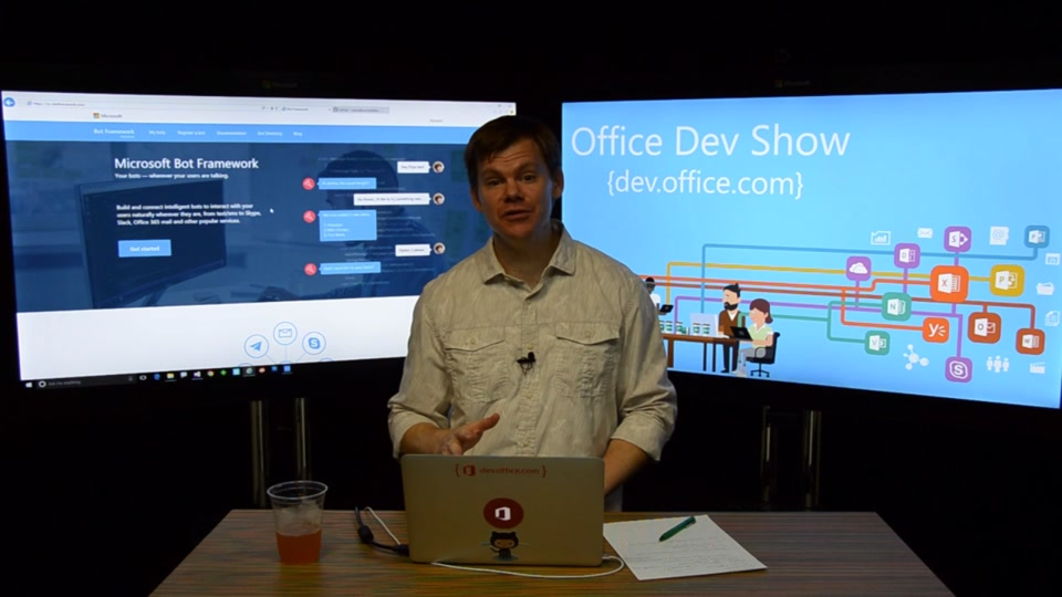 Office Dev Show - Episode 34 - Getting Started with Bots and the Microsoft Graph