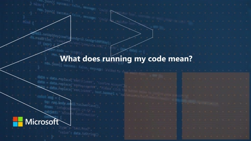 What does it mean to run my code | One Dev Question