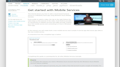 Microsoft DevRadio: (Part 3) Windows Azure Mobile Services – What's Next