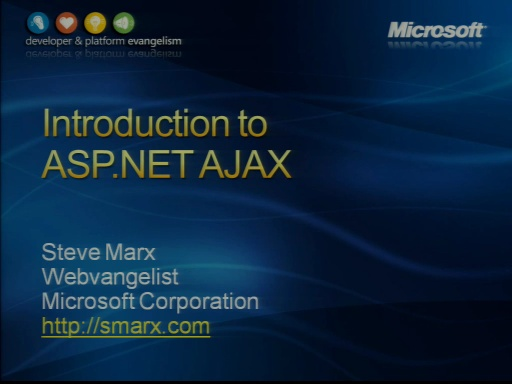 VS2008 Training Kit: Introduction to ASP.NET AJAX
