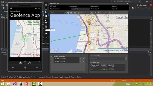 Using the Windows Phone Emulator to test your geofencing app