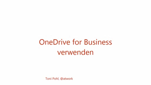 Office 365 OneDrive For Business verwenden - Handling und Synchronisation
