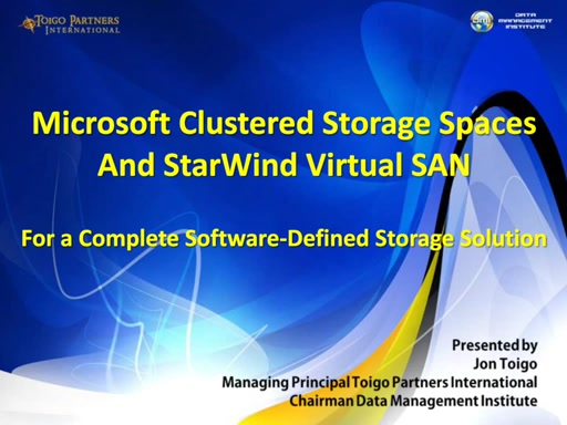 Microsoft Clustered Storage Spaces: easily build your software-defined storage with complementary technologies