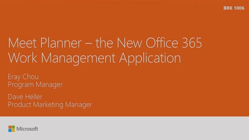 Meet Planner - the new Microsoft Office 365 work management application