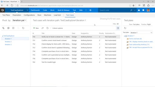 VS Team Services - Test Case Explorer v2